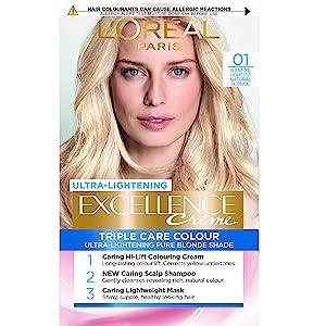 L Oréal Paris excelencia crema color del pelo ligero Natural rubio número 01