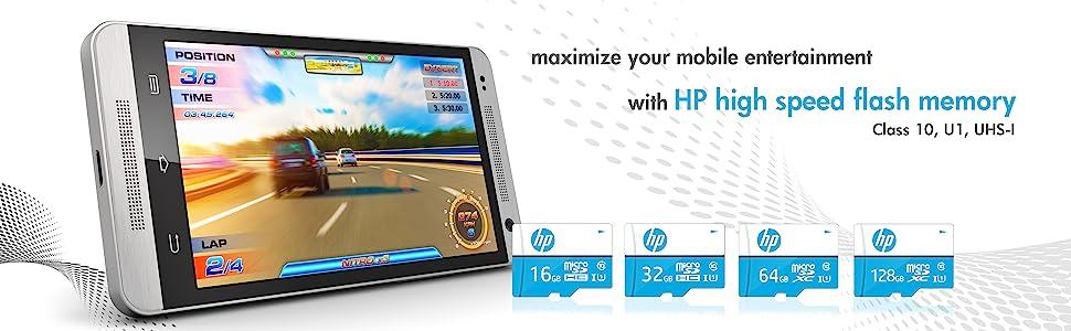 HP Class 10 MicroSD Memory Card
