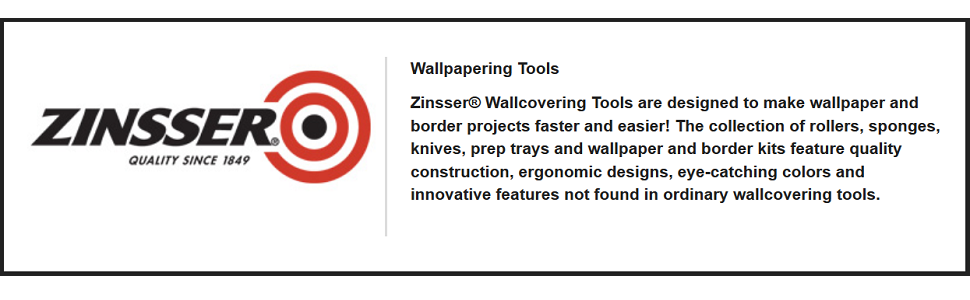 "Zinsser 1/"" WallPaper WallCovering Seam Roller 98005"