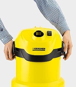 Kärcher WD2 - Aspirador seco y húmedo 1000 W, depósito plástico de 12 l, versión española [enchufe inglés]: Amazon.es: Hogar