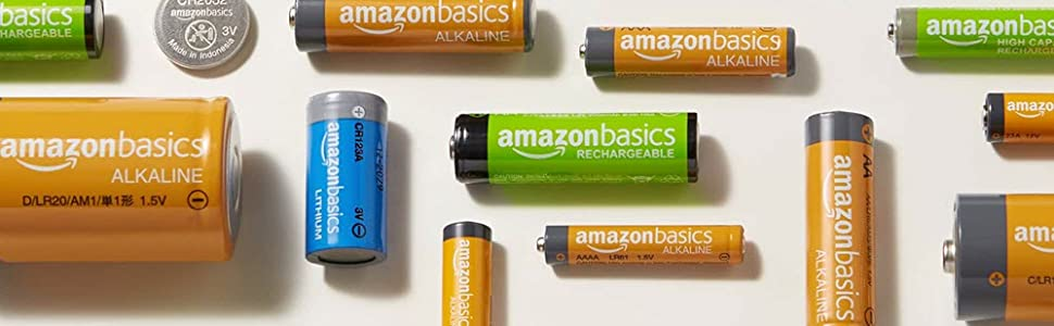 AmazonBasics Batteries: Rechargeable, Alkaline, Lithium and Coin Cell