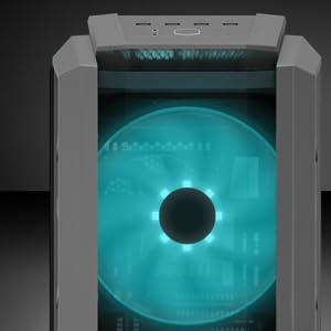 Cooler Master MasterCase H500P- Caja PC RGB con Dos Ventiladores ...
