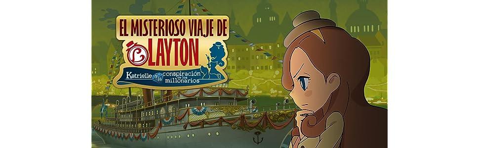 El Misterioso Viaje De Layton: Katrielle Y La Conspiración De Los Millonarios - Edición Estándar: Amazon.es: Videojuegos