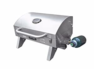 Smoke Hollow 205 Stainless Steel, Portable Table Top Propane Gas Grill
