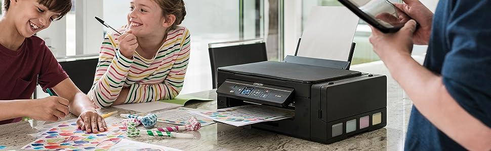 Epson ECOTANK ET2600 3IN1 Impresora de inyección de Tinta C11CF46402 A4/WLAN/LAN