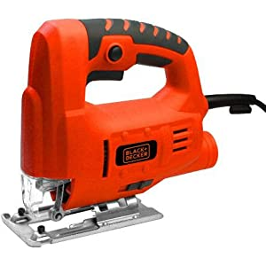 Black and Decker Single Speed Compact Jigsaw, 400 W, Red, Js10-b5