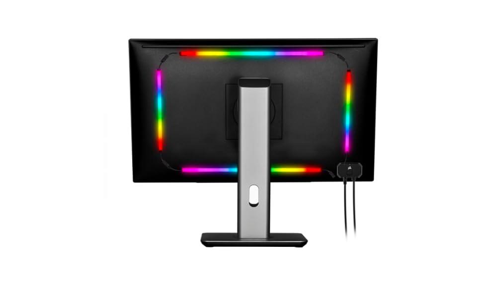 Corsair iCUE LS100 Kit de Iniciación de Tiras LED Inteligentes ...
