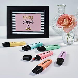 STABILO, STABILO BOSS, BOSS, highlighter, pastel, refillable, pencil case, uni, school, office