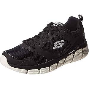 SKECHERS Skech-Flex 3.0, Men's Road Running Shoes, Black (Black/White)