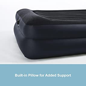 Amazon Com Intex Pillow Rest Raised Airbed With Built In Pillow