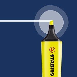 Stabilo B-14892 - Subrayador, amarillo (Pack de 4): Amazon.es: Oficina y papelería