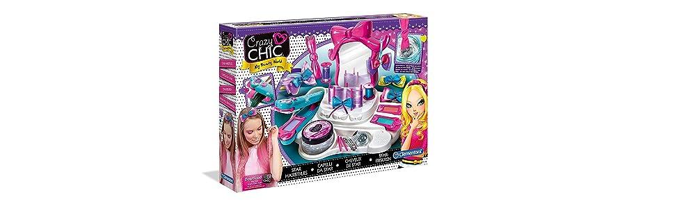 Clementoni - Crazy Chic Decora tu Cabello (15241): Amazon.es: Juguetes y juegos