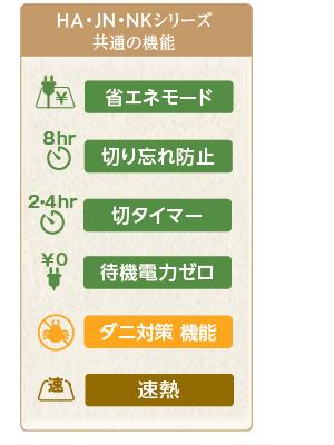 HA・JN・HKシリーズ共通機能