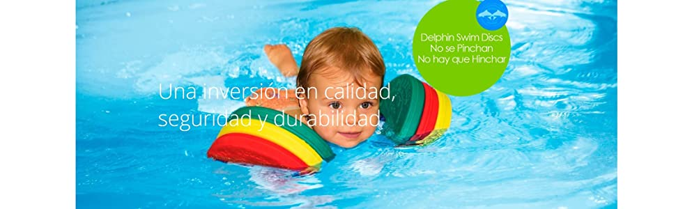 Delphin - Manguitos para aprender a nadar gradualmente, color rojo / amarillo / verde