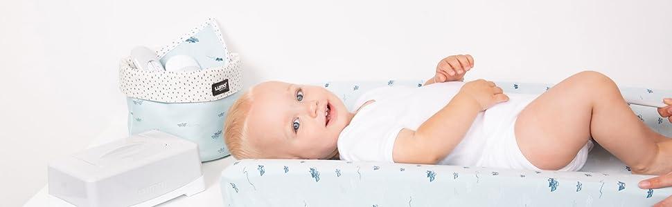 Juego de baño y cuidado Luma Babycare, para bebés blanco Blanco