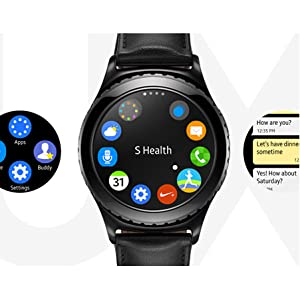 Samsung Gear S2 Classic SM-R732 Smart Watch, Black - SM-R7320ZKAXAR