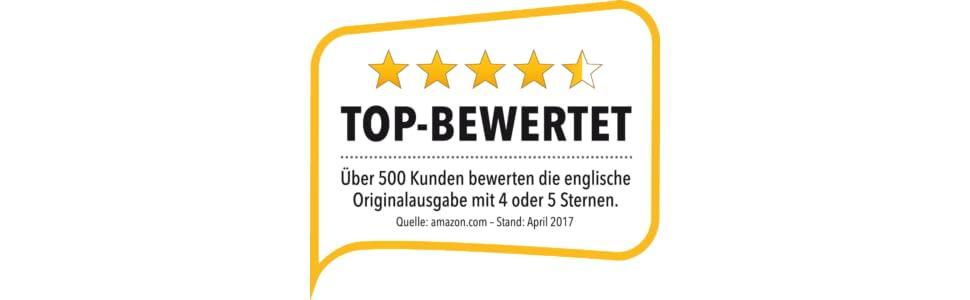 Über 500 Kunden beweteten die englische Originalausgabe mit 4 oder 5 Sternen.