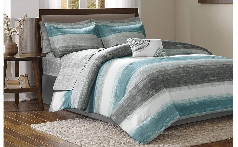 Madison Park Essentials Central Park King Size Bed Comforter Set Bed In A Bag