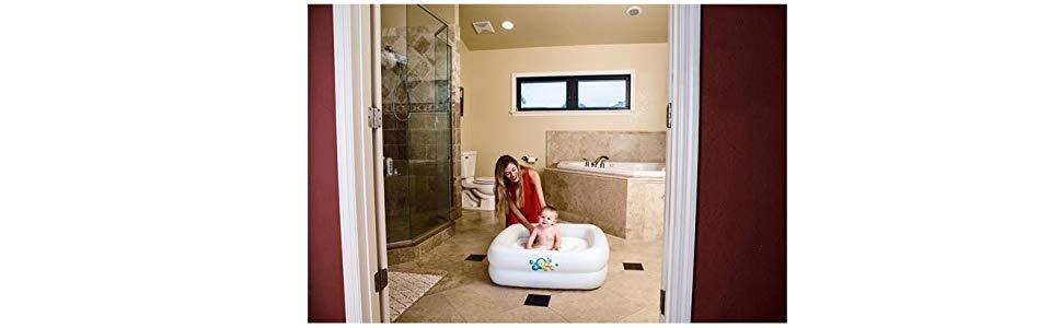 Bestway 51116 - Piscina Hinchable Infantil Bañera Bebé 86x86x25 cm: Amazon.es: Jardín