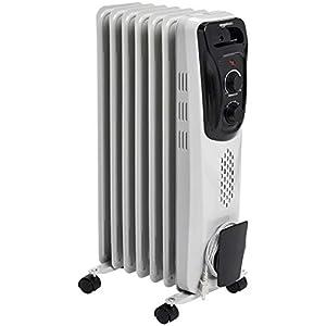 Amazon Com Amazonbasics Indoor Portable Radiator Heater White Home Kitchen