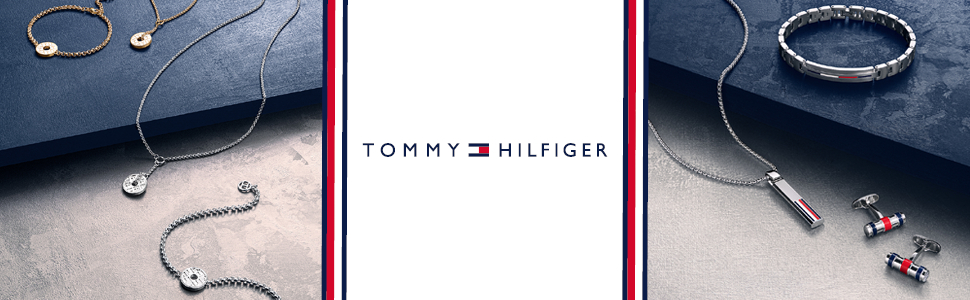 TOMMY HILFIGER MEN'S STAINLESS STEEL & BROWN LEATHER & NAVY CORD BRACELETS