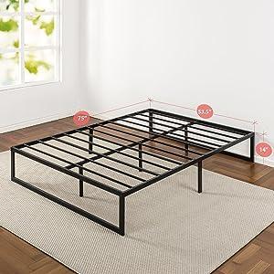 Amazon Com Zinus Abel 14 Inch Metal Platform Bed Frame