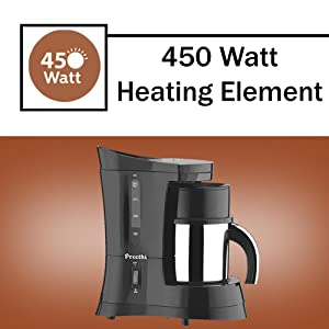Buy Preethi Cafe Zest CM210 Drip Coffee Maker (Black) Online at Low Prices in India - Amazon.in