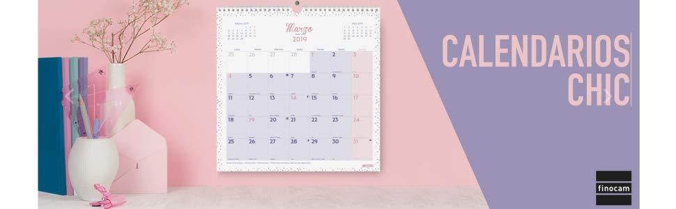 Finocam 780563619 - Calendario de pared 2019: Amazon.es: Oficina y ...