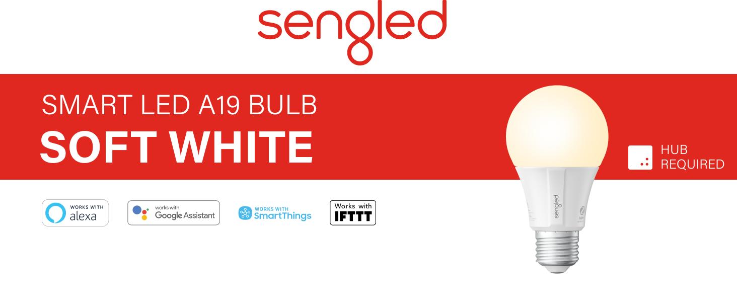 Sengled Smart LED Light Bulb A19 2700 K Soft White