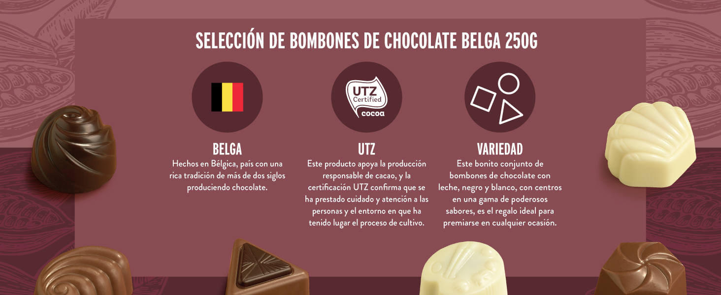 Marca Amazon - Happy Belly Selección de bombones de chocolate ...