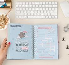 Mr. Wonderful WOA08524 - Agenda 2017-2018, diseño Sueños, planes y mil historias por cumplir
