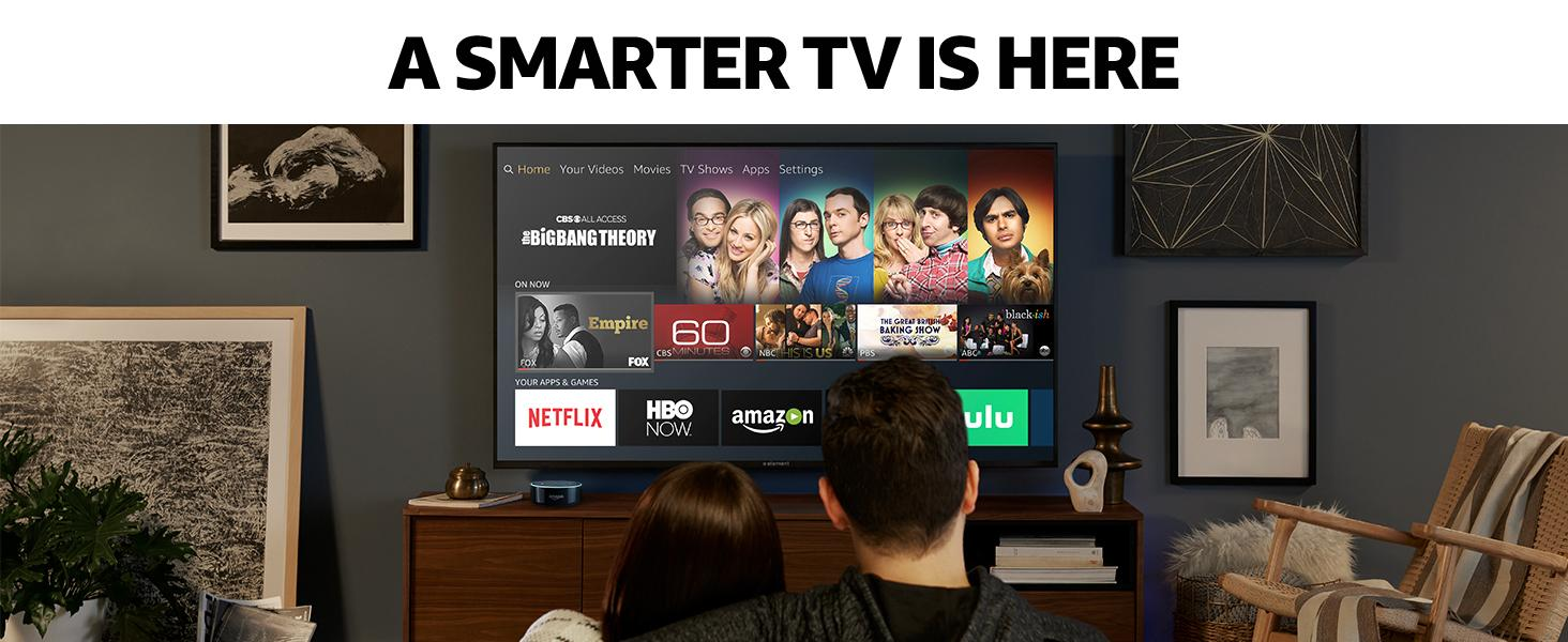 This smart TV delivers stunning 4K UHD picture quality with the Fire TV experience built in.