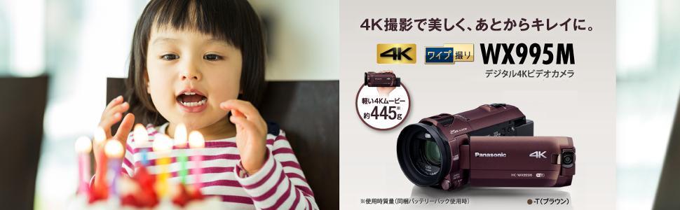 4K画質で、キレイで鮮やかな記録が可能 HC-WX995