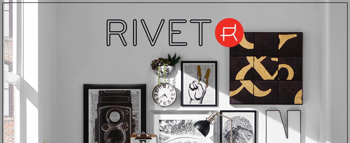 Rivet, small space, studio, apartment, office, desk, swivel, chair, desk chair, bookcase, shelves
