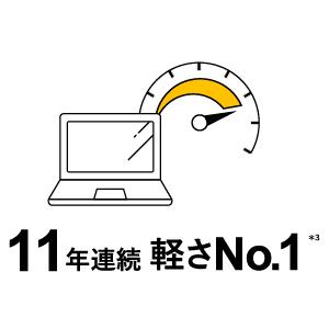 11年連続軽さNo.1