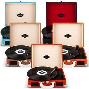 Auna Peggy Sue Tocadiscos Retro (USB, Altavoces estéreo Integrados ...