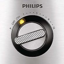 Philips HR7778, 1000 W, 1 Liter, Plástico, 12 Velocidades, Acero ...