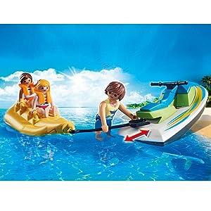 Moto de agua con flotador. La moto de agua es compatible con el motor submarino (ref. 7350).