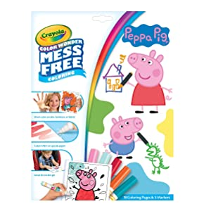 Amazon.com: Crayola 75-7000 Color Wonder Mess Free Drawing, Peppa ...