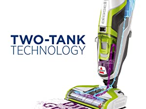 Bissell Crosswave two-tank technology
