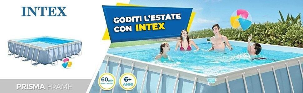 Intex Agp Accessori Piscina Prisma Frame Quadrata Con