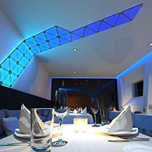 Nanoleaf Aurora Smarter Kit Set de iluminación LED, panel + controlador Integriert, 2 W, Blanco, 13.7 x 29.5 x 11 cm, 1 Unidad