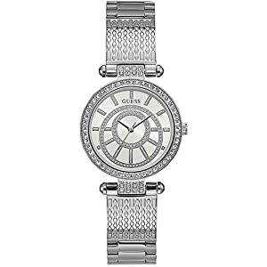 Guess Women's Silver Dial Stainless Steel Band Watch