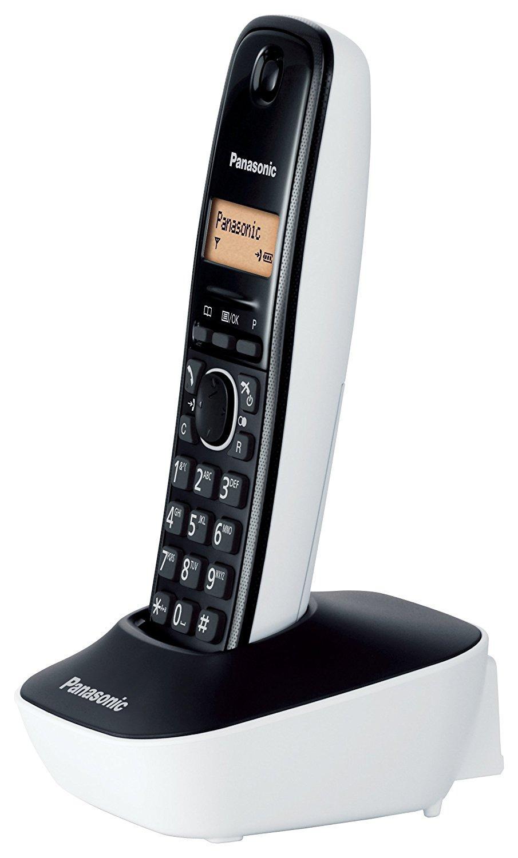 Panasonic kx tg1611jtw telefono cordless dect singolo con base montabile a parete nero bianco - Telefoni a parete ...