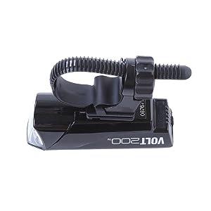 CAT EYE(キャットアイ) LED ヘッドライト VOLT200 HL-EL151RC USB充電 ブラック フレックスタイトブラケット付属