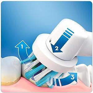 Oral-B Vitality Plus CrossAction Spazzolino Elettrico Ricaricabile, batteria, timer da 2 minuti, blu, bianco