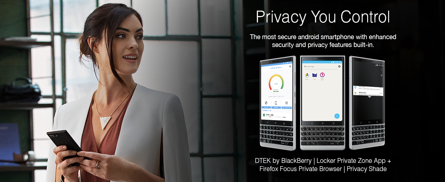 BlackBerry KEY2 Android Smartphone Enhanced Security Features