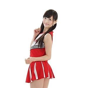 A&TCollection マイ☆チアガール 赤×白 コスチューム レディース Mサイズ
