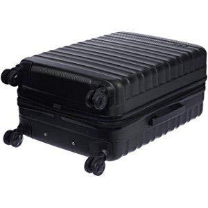 AmazonBasics 68 cm Black Hardsided Check-in Trolley  Amazon.in  Bags ... 72eb5edb57b38