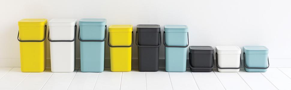 sort & go, brabantia, food waste, caddy, recycling, separation, built-in, bin